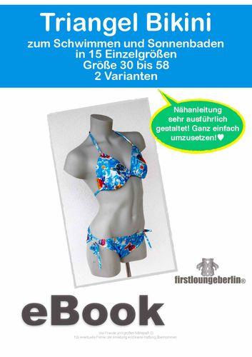 Produktfoto von Firstlounge Berlin zum Nähen für Schnittmuster Triangel Bikini