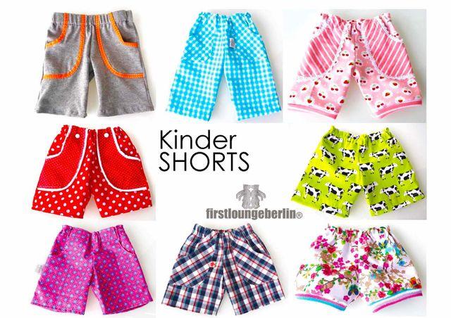 Produktfoto von Firstlounge Berlin zum Nähen für Schnittmuster Shorty Shorts für Kinder