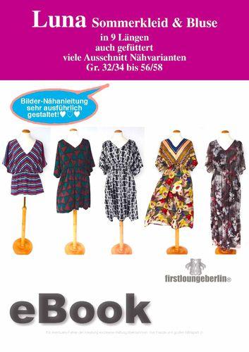Produktfoto von Firstlounge Berlin zum Nähen für Schnittmuster Sommerkleid & Bluse Luna