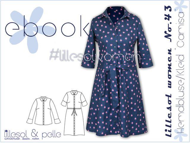 Produktfoto von Lillesol & Pelle zum Nähen für Schnittmuster Lillesol women No.43 Hemdbluse/Kleid Camisa