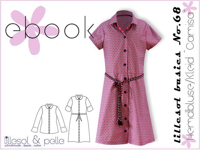 Produktfoto von Lillesol & Pelle zum Nähen für Schnittmuster Lillesol basics No.68 Hemdbluse & Kleid Camisa