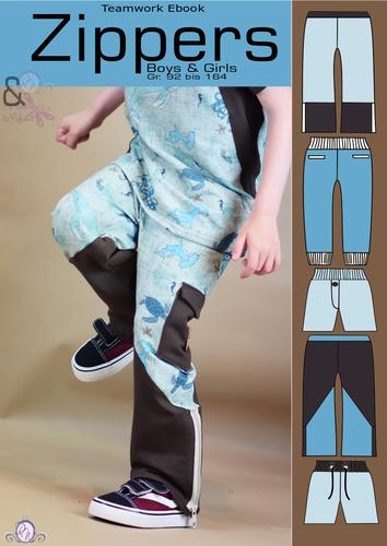 Produktfoto von Rosalieb & Wildblau zum Nähen für Schnittmuster Zippers
