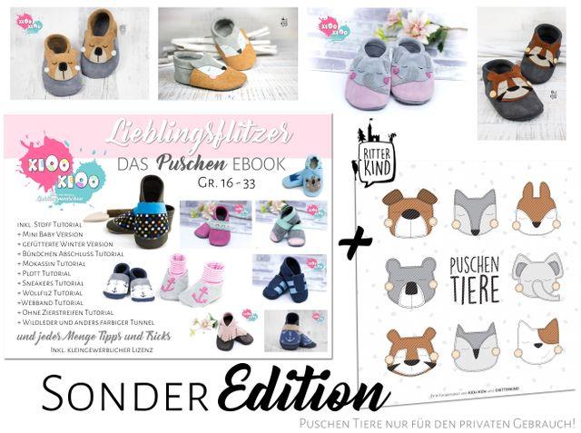 Produktfoto von kiOo kiOo zum Nähen für Schnittmuster Puschen Lieblingsflitzer !Sonder Edition!