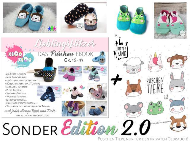 Produktfoto von kiOo kiOo zum Nähen für Schnittmuster Puschen Lieblingsflitzer !Sonder Edition 2.0!
