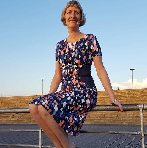 Produktfoto von Schnittmuster Berlin zum Nähen für Schnittmuster Jerseykleid Quitte