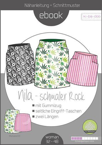 Produktfoto von ki-ba-doo zum Nähen für Schnittmuster Schmaler Rock Nila