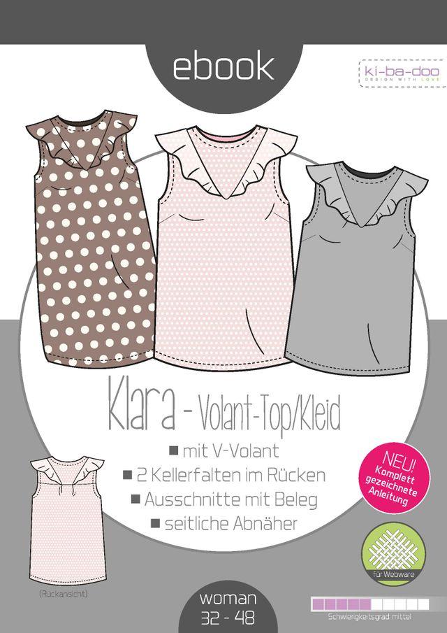 Produktfoto von ki-ba-doo zum Nähen für Schnittmuster Volant-Top/Kleid Karla