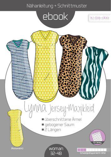 Produktfoto von ki-ba-doo zum Nähen für Schnittmuster Jersey-Maxikleid Lynna
