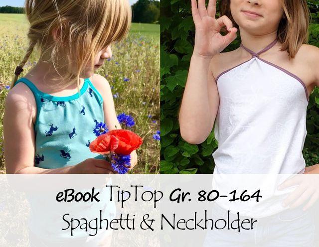 Produktfoto von Bunte Nähigkeiten zum Nähen für Schnittmuster TipTop Neckholder- und Spaghetti-Top