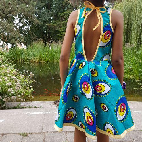 Produktfoto von Näh Bärchen zum Nähen für Schnittmuster Sommerkleid African Queen