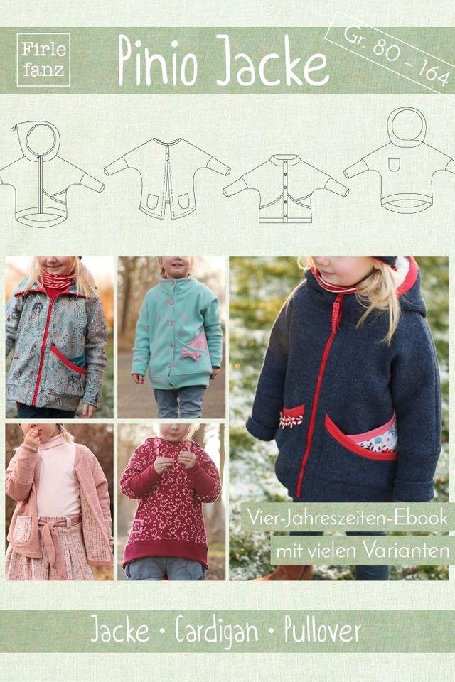 Produktfoto von Firlefanz zum Nähen für Schnittmuster Pinio Jacke