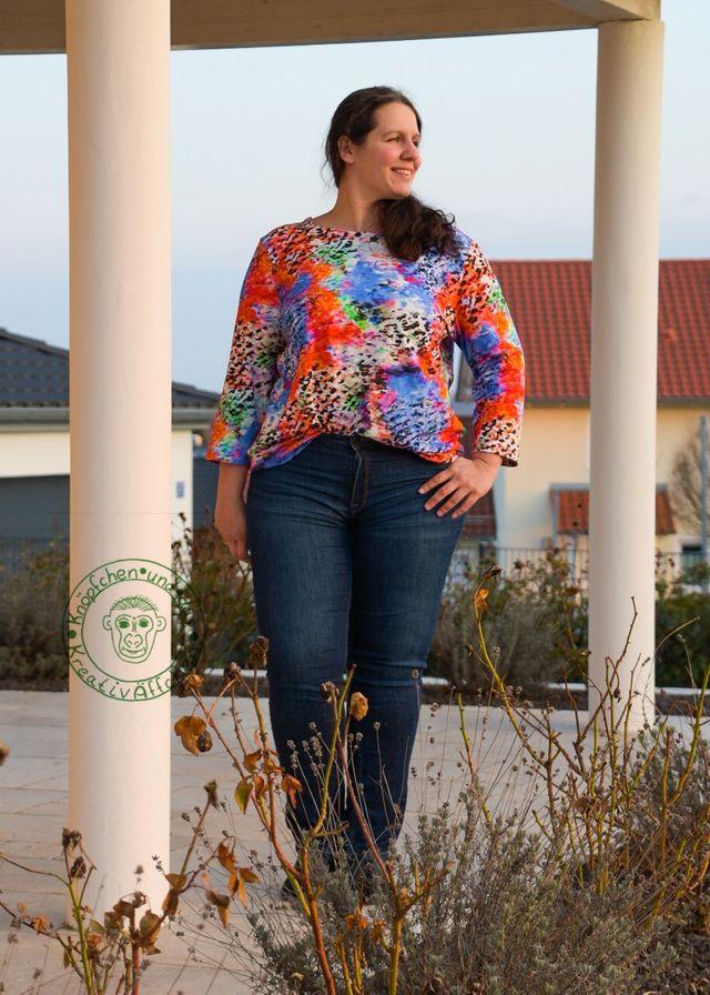 Produktfoto von Miou Miou zum Nähen für Schnittmuster Shirtbluse Nellie XL