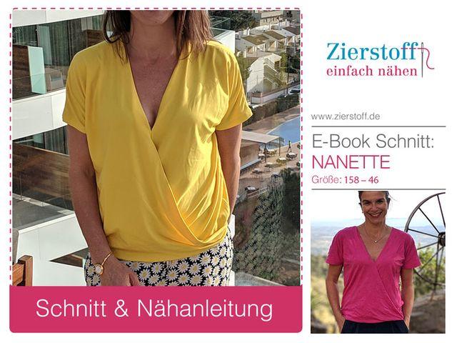Produktfoto von Zierstoff zum Nähen für Schnittmuster Nanette