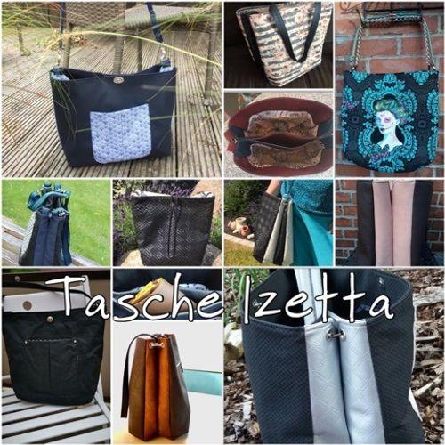 Produktfoto von JaSEWmade - Handmade by Scaryle zum Nähen für Schnittmuster Tasche Izetta & Izetta BIG