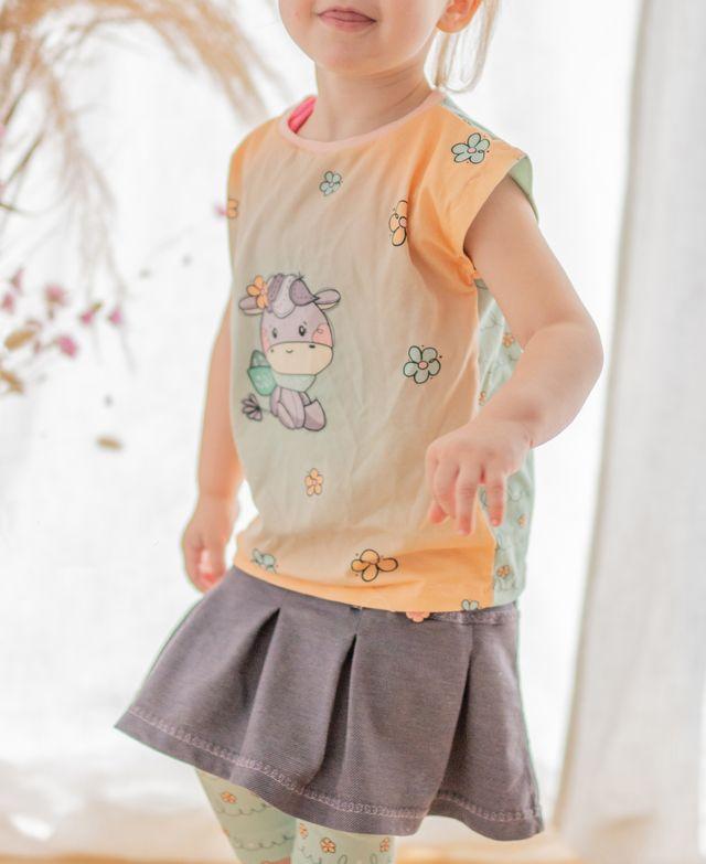 Produktfoto von Mini & Me Patterns zum Nähen für Schnittmuster Shirt/Kleid Fast Summer Kids