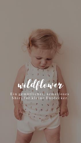 Produktfoto von Naturfaden zum Nähen für Schnittmuster Babyshirt Wildflower
