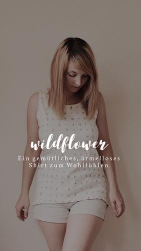 Produktfoto von Naturfaden zum Nähen für Schnittmuster Damenshirt Wildflower