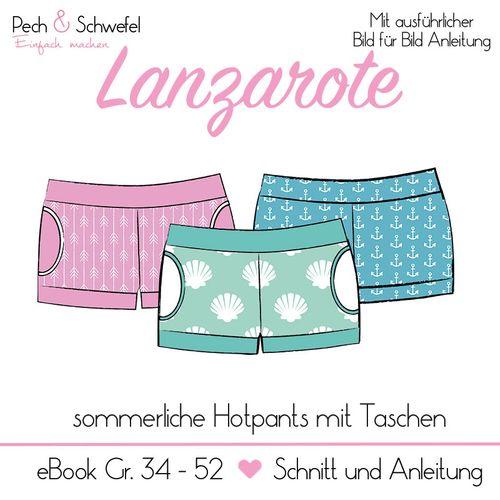 Produktfoto von Pech & Schwefel zum Nähen für Schnittmuster Hotpants Lanzarote