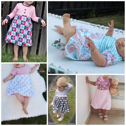 Produktfoto von Engelinchen zum Nähen für Schnittmuster Baby-Ballonkleid Katharina