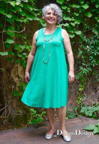 Produktfoto von DongoDesign zum Nähen für Schnittmuster Supereasy Jersey-Kleid Amarena