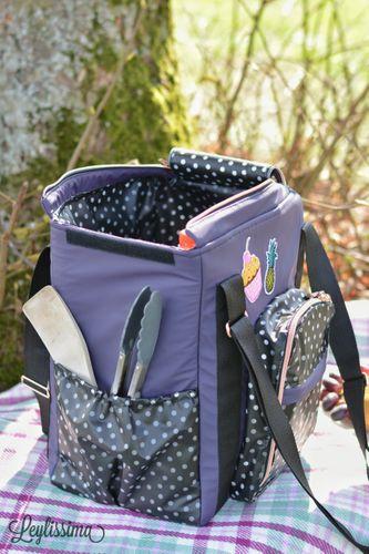 Produktfoto von LaLilly Herzileien zum Nähen für Schnittmuster Coolbag Nevera