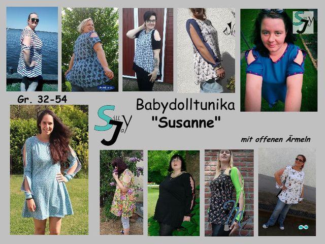 Produktfoto von Sillyjay zum Nähen für Schnittmuster Babydoll Tunika Susanne