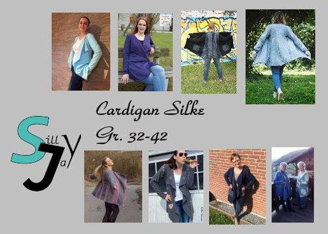 Produktfoto von Sillyjay zum Nähen für Schnittmuster Cardigan Silke 32-42