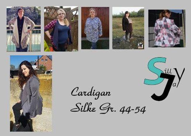 Produktfoto von Sillyjay zum Nähen für Schnittmuster Cardigan Silke 44-54