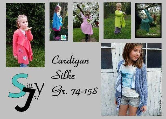 Produktfoto von Sillyjay zum Nähen für Schnittmuster Cardigan Silke 74-158