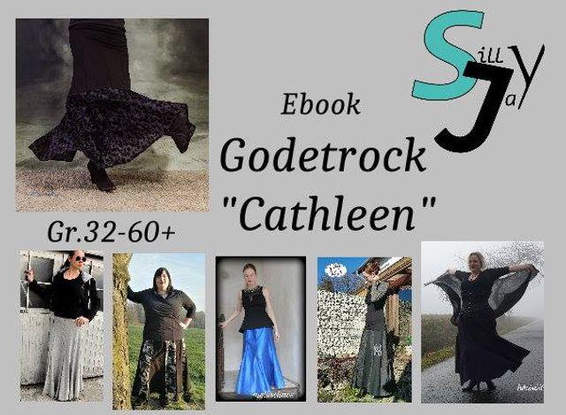 Produktfoto von Sillyjay zum Nähen für Schnittmuster Godetrock Cathleen 32-60+