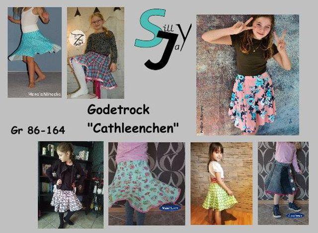 Produktfoto von Sillyjay zum Nähen für Schnittmuster Godetrock Cathleenchen 86-164