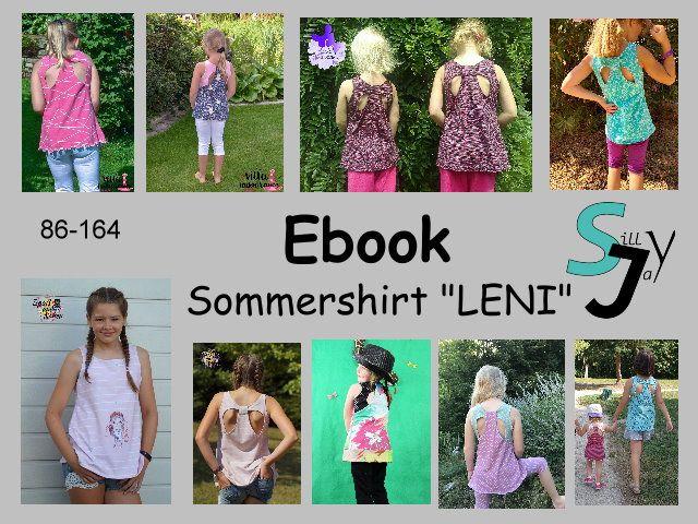 Produktfoto von Sillyjay zum Nähen für Schnittmuster Sommershirt Leni 86-152