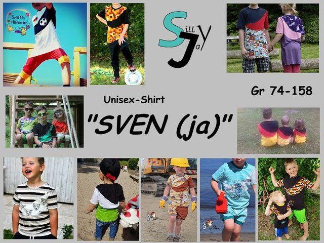 Produktfoto von Sillyjay zum Nähen für Schnittmuster Unisex-Shirt Sven(ja) 74-158