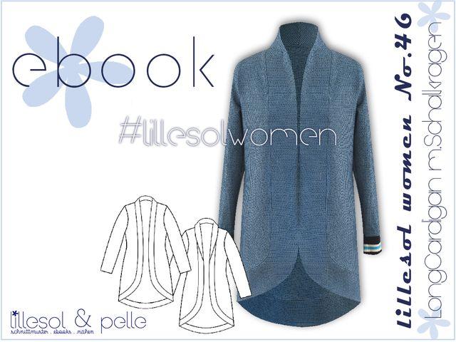 Produktfoto von Lillesol & Pelle zum Nähen für Schnittmuster Lillesol women No. 46 Longcardigan mit Schalkragen