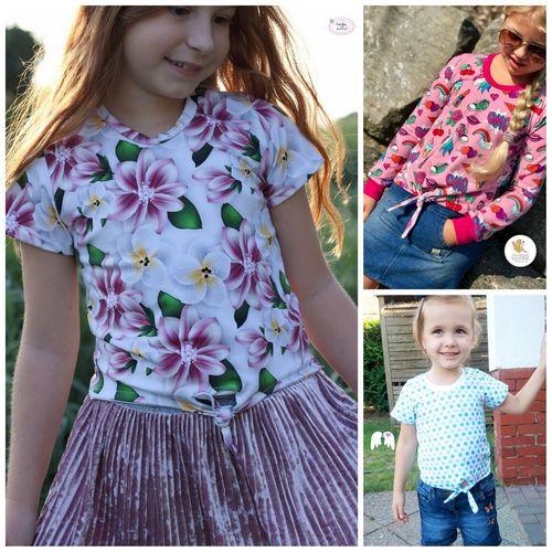 Produktfoto von Engelinchen zum Nähen für Schnittmuster Knotenshirt Cassandra