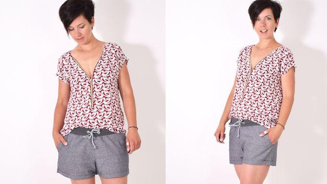Produktfoto von Leni Pepunkt zum Nähen für Schnittmuster ZIPPER.bluse