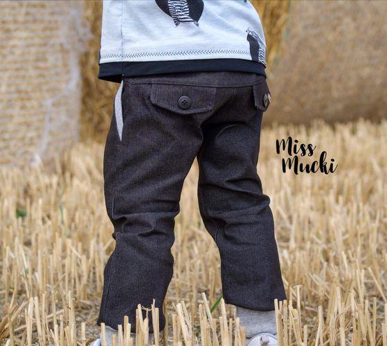 Produktfoto von FrleinFaden zum Nähen für Schnittmuster Lange Taschenklappenhose 68-98