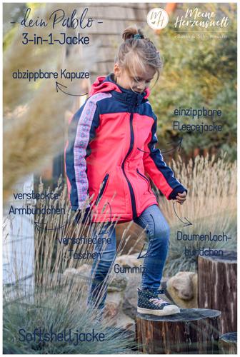 Produktfoto von Meine Herzenswelt zum Nähen für Schnittmuster Softshelljacke  Kinder - Dein Pablo
