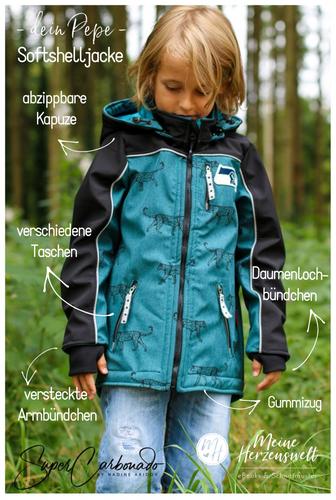 Produktfoto von Meine Herzenswelt zum Nähen für Schnittmuster Softshelljacke Kinder - Dein Pepe