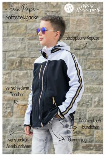 Produktfoto von Meine Herzenswelt zum Nähen für Schnittmuster Softshelljacke Teens - Dein Pepe
