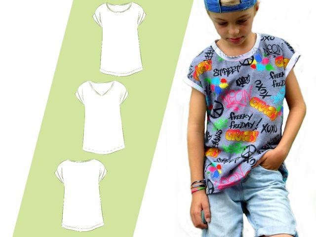 Produktfoto von 73engelchen zum Nähen für Schnittmuster Kindershirt Kids Boy