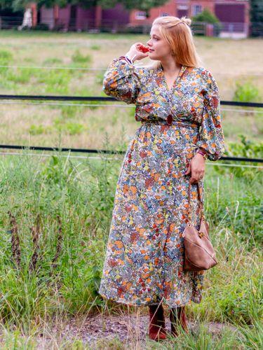 Produktfoto von LaLilly Herzileien zum Nähen für Schnittmuster Kimonokleid Ainhoa