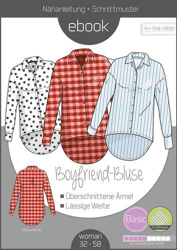 Produktfoto von ki-ba-doo zum Nähen für Schnittmuster Boyfriend-Bluse