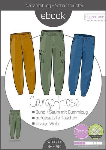 Produktfoto von ki-ba-doo zum Nähen für Schnittmuster Cargo-Hose Damen