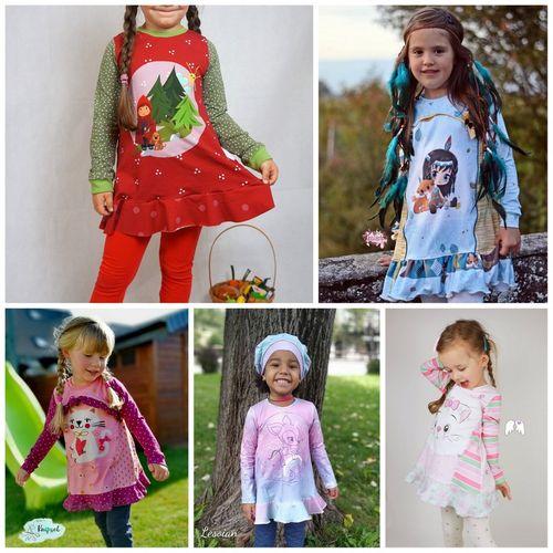 Produktfoto von Engelinchen zum Nähen für Schnittmuster Panelino girls Tunika