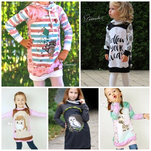 Produktfoto von Engelinchen zum Nähen für Schnittmuster Panelino girls Longhoodie