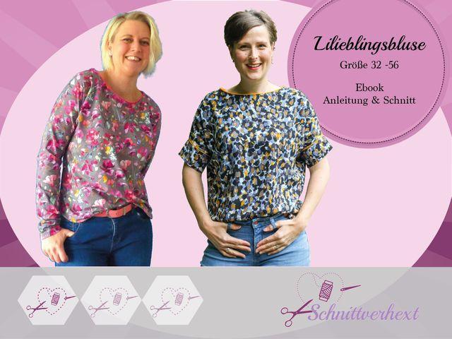 Produktfoto von Schnittverhext zum Nähen für Schnittmuster Lilieblingsbluse