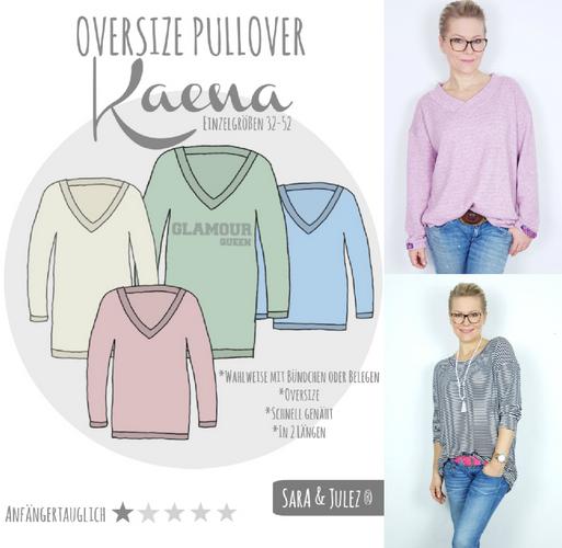 Produktfoto von Sara & Julez zum Nähen für Schnittmuster Oversize Pullover Kaena