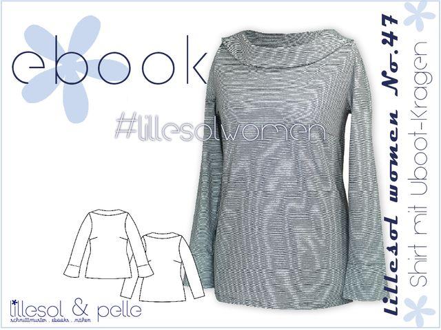 Produktfoto von Lillesol & Pelle zum Nähen für Schnittmuster Lillesol women No. 47 Shirt mit U-Boot-Kragen
