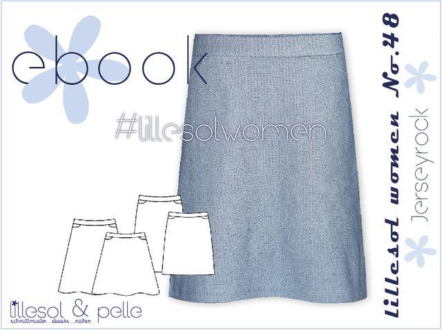 Produktfoto von Lillesol & Pelle zum Nähen für Schnittmuster Lillesol Women No. 48 Jerseyrock